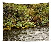 Mossy Riverbank Tapestry