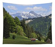Mountain Landscape In The Alps Tapestry