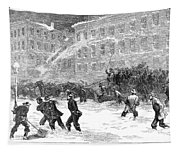 New York: Snowstorm, 1867 Tapestry