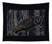 Night Owl - Digital Art Tapestry