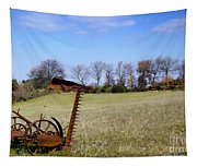 Old Plow Tapestry