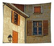 Orange Windows In Provence Tapestry