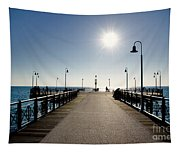 Pier In Backlight Tapestry