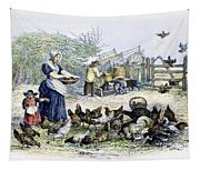 Poultry Yard, 1847 Tapestry