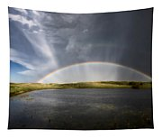 Prairie Hail Storm And Rainbow Tapestry