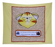 Quilted Cat  Tapestry