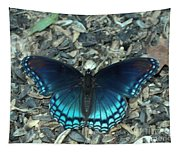 Red Spotted Purple Swallowtail Butterfly Tapestry