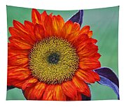 Red Sunflower  Tapestry