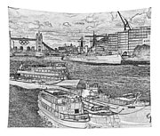 River Thames Art Tapestry