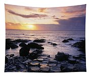 Rocks On The Beach, Giants Causeway Tapestry