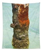 Rusted Dock Pier Of The Caribbean Vii Tapestry
