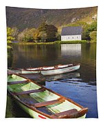 St. Finbarres Oratory And Rowing Boats Tapestry