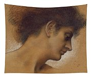 Study Of A Head Tapestry