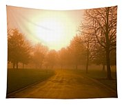 Sunrise Over Country Road, Oregon Tapestry