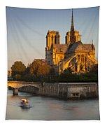 Sunrise Over Notre Dame Tapestry