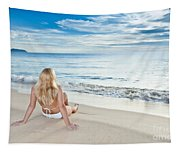 Sunrise Woman Tapestry