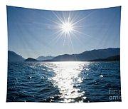 Sunshine Over An Alpine Lake Tapestry