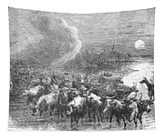 Texas: Cattle Drive, 1867 Tapestry