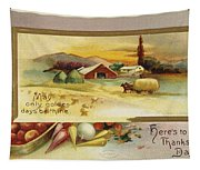 Thanksgiving Card, C1910 Tapestry