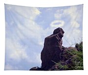The Praying Monk With Halo - Camelback Mountain Tapestry