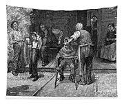 The Village Barber, 1883 Tapestry