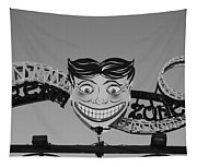 Tillie's Scream Zone In Black And White Tapestry