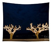 Trees With Lights Tapestry