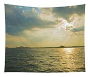 View From Battery Park City Tapestry