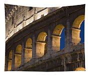 View Of The Roman Coliseum In Rome Tapestry