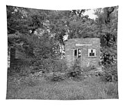 Walnut Grove School Ruins Tapestry