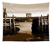 Wharf At Low Tide Tapestry