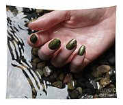 Woman Hand In Water Tapestry