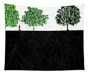 Woman In The Park  Tapestry