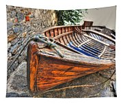Wood Boat Tapestry