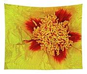 Yellow Peony Tapestry