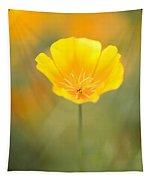 Yellow Poppy Flower, Mount Hood Tapestry