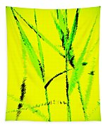 Water Reed Digital Art Tapestry