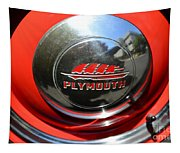 1937 Plymouth Hubcap Tapestry