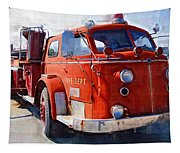 1954 American Lafrance Classic Fire Engine Truck Tapestry