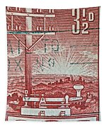 1954 Centenary Of Australian Telegraph Stamp Tapestry