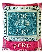 1957 Peru Ten Centavos Stamp Tapestry
