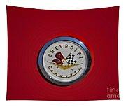 1957 Red Corvette Emblem Tapestry