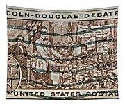 1958 Lincoln-douglas Debates Stamp Tapestry