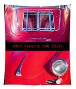 1963 Red Porsche S90 Coupe Poster Tapestry