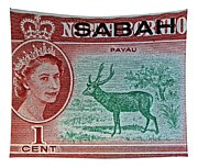 1964 North Borneo Sabah Stamp Tapestry