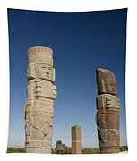 Atlantes Warrior Statues Tapestry