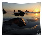 Bandon Beach Sunset Tapestry