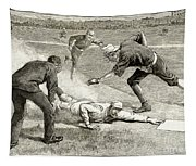 Baseball Game, 1885 Tapestry