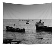 Boats Moored Off Of Leigh Essex Tapestry
