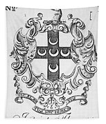Bookplate, 18th Century Tapestry